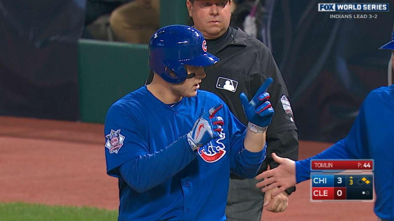 Rizzo's three-hit game