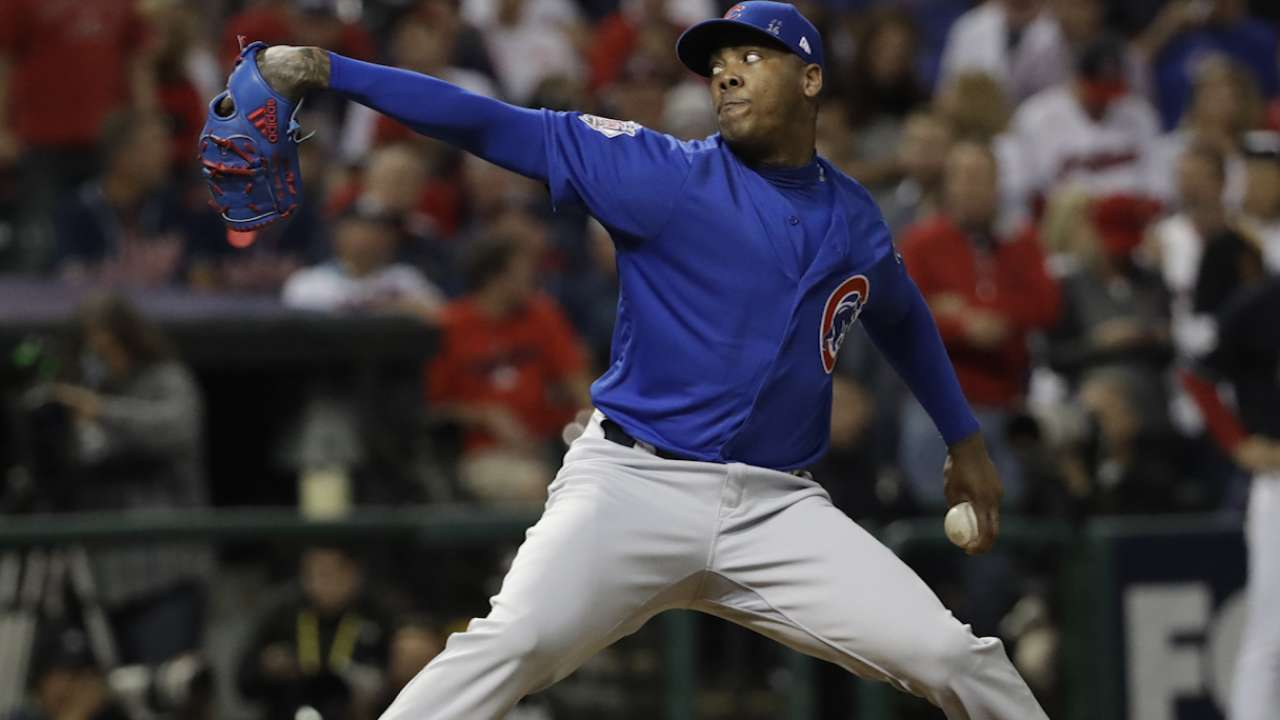Cubs' big-lead use of Chapman costly?