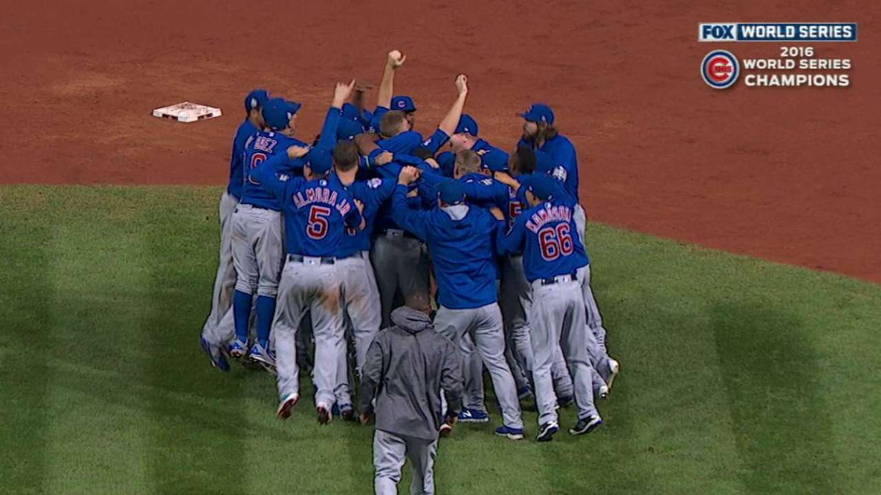 Cubs win 2016 World Series
