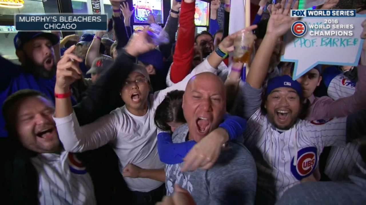 Cubs fans celebrate title