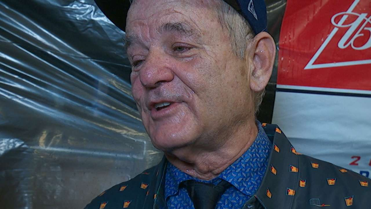 Cubs fan Bill Murray on WS win
