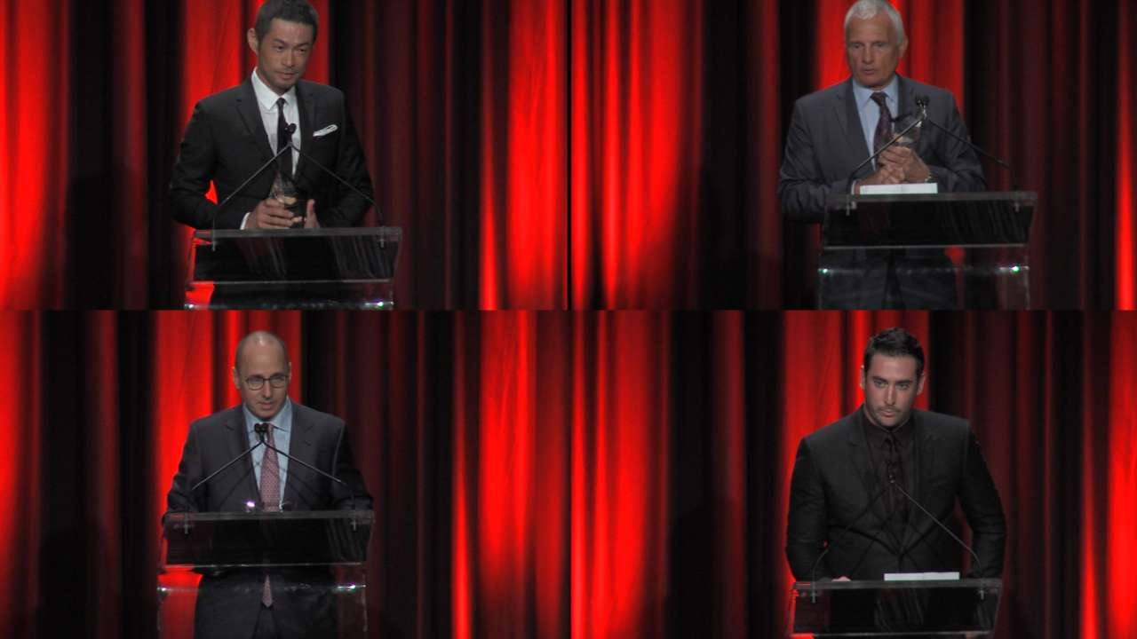 Cashman, Collins, Harvey, Ichiro honored