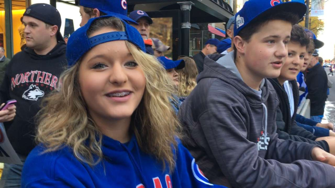 Fans embrace euphoria at World Series parade