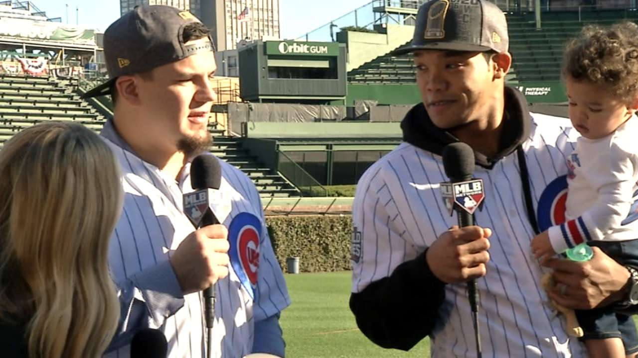 Schwarber, Russell on WS parade