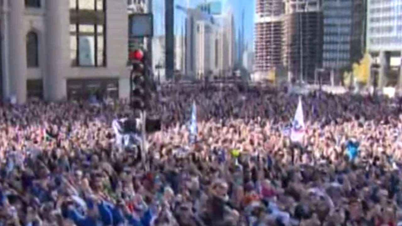 Cubs celebrate World Series win with parade MLBcom