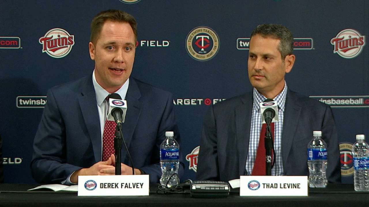 Falvey, Levine join Twins' ranks