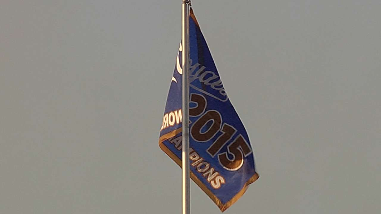 Banner night: Royals raise champions flag