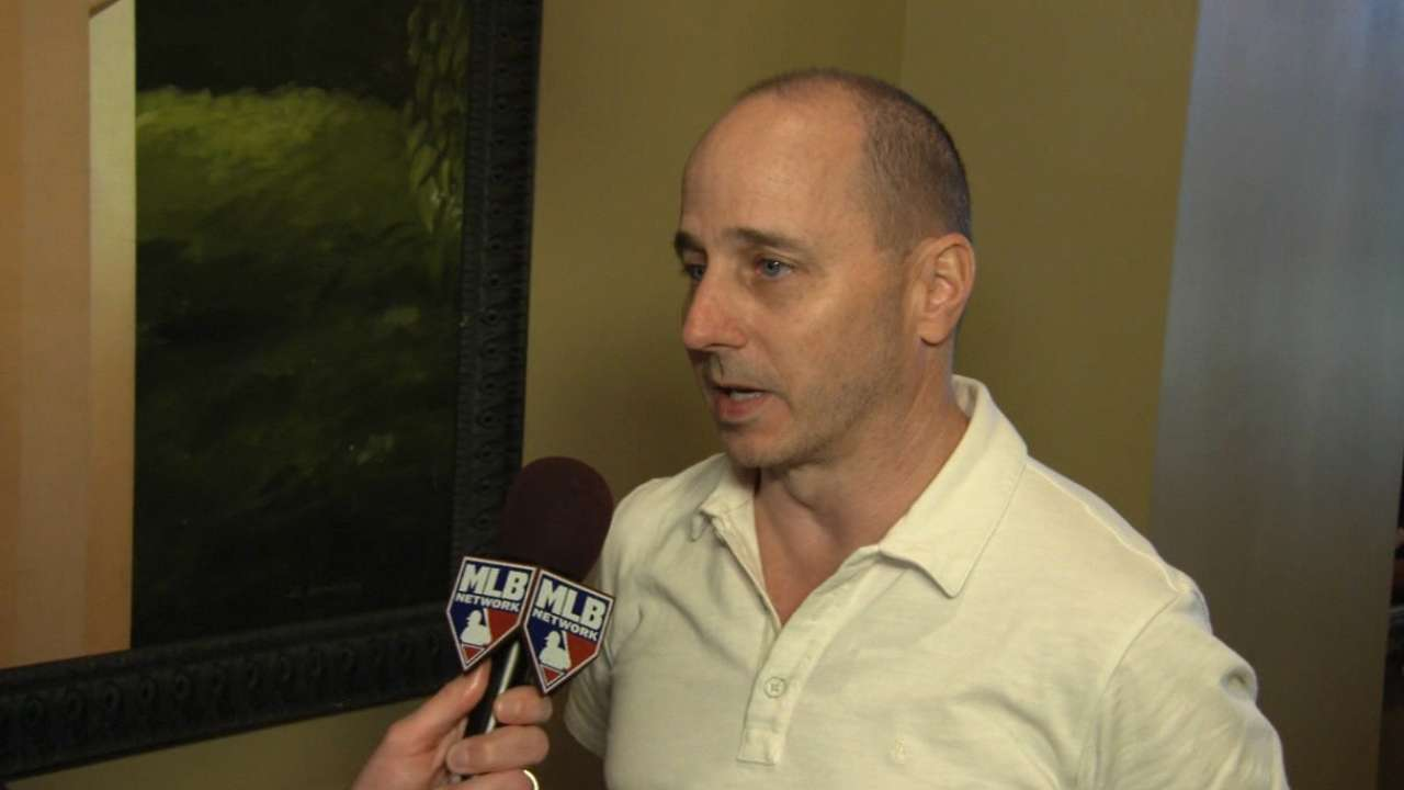 Cashman seeks pitching at Winter Meetings