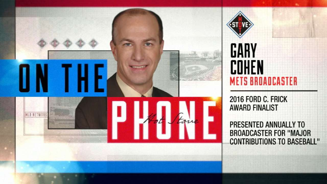 Cohen a 2017 Ford C. Frick Award finalist
