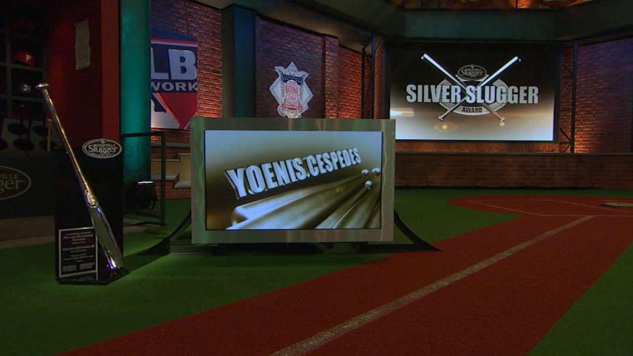 Cespedes wins first NL Silver Slugger Award