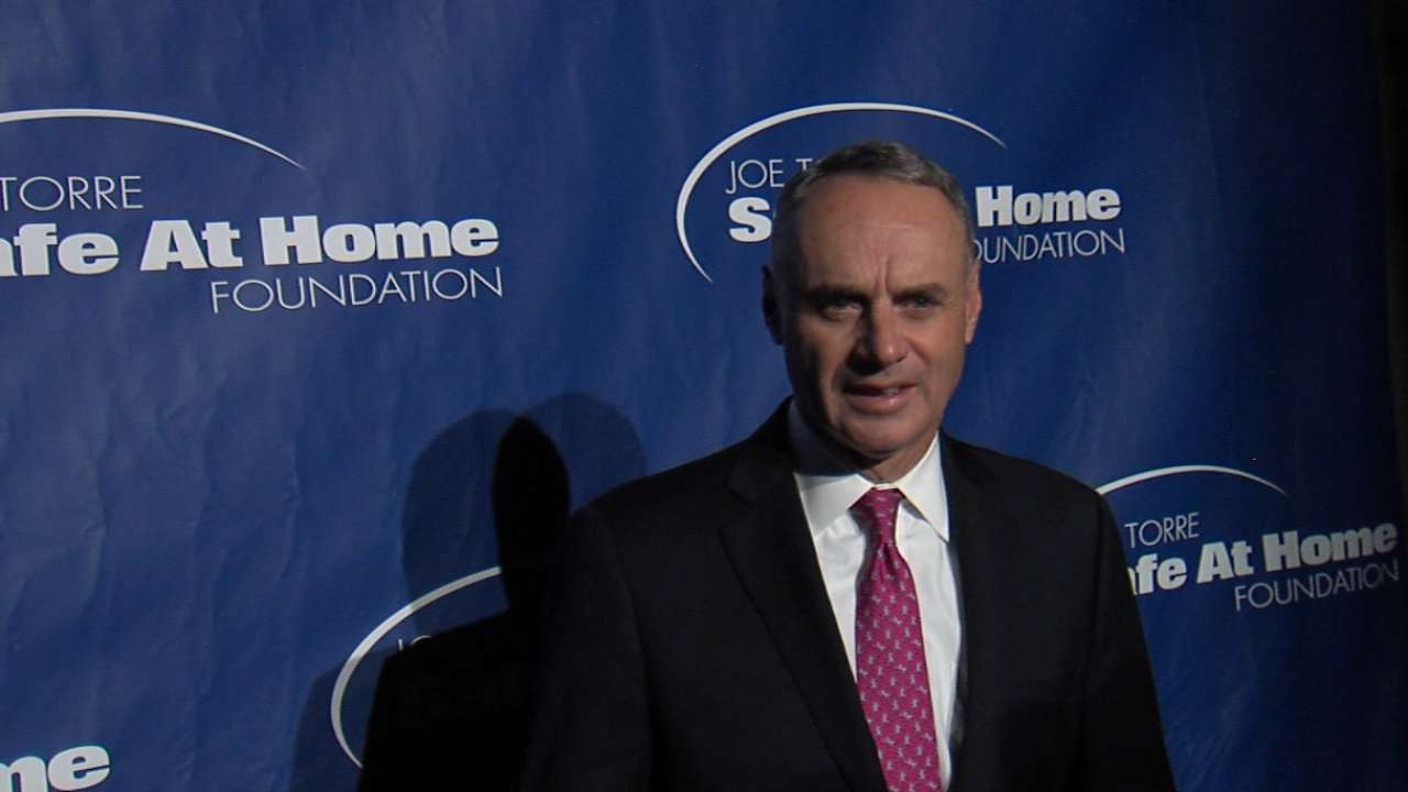 MLB leaders honored at Safe At Home gala