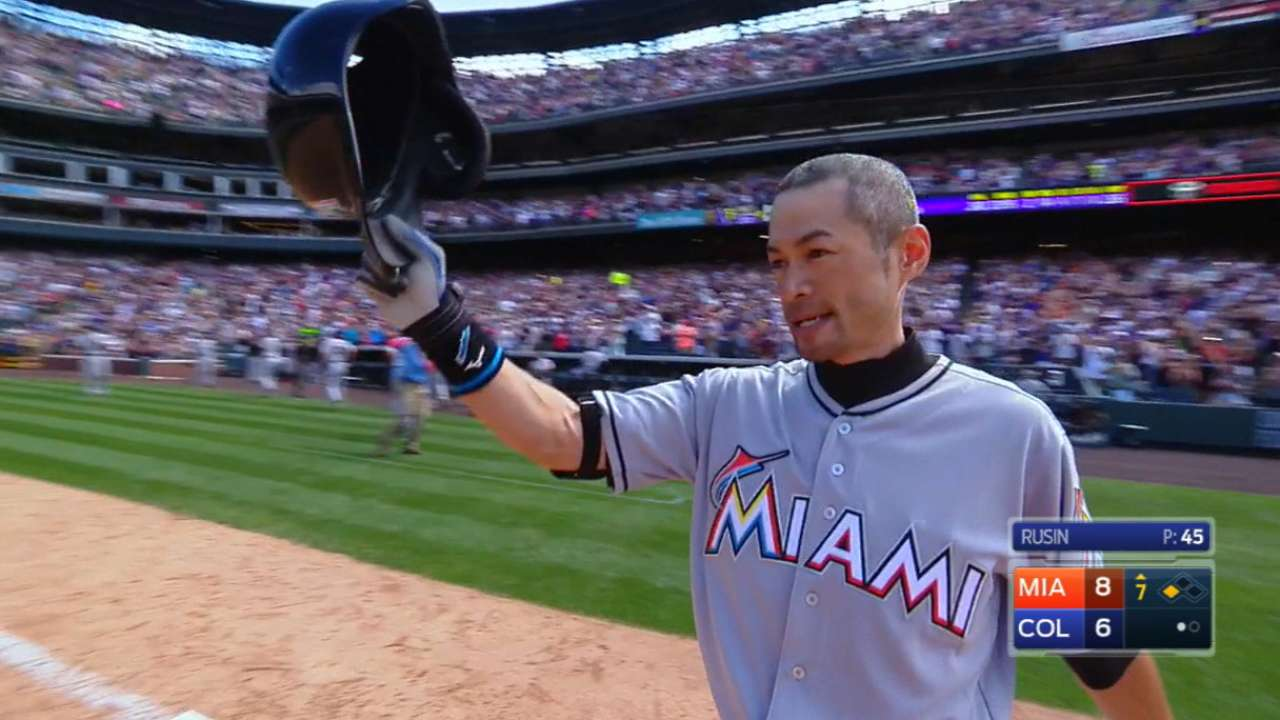 Rockies respect Ichiro's contribution to the game