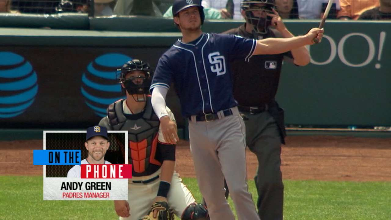 Myers a fixture at first for Padres