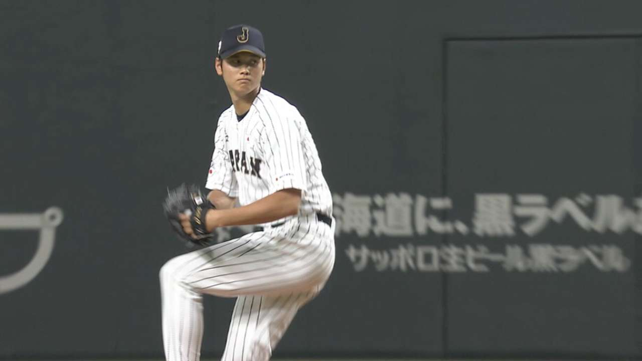 Ohtani dials it up for Japan