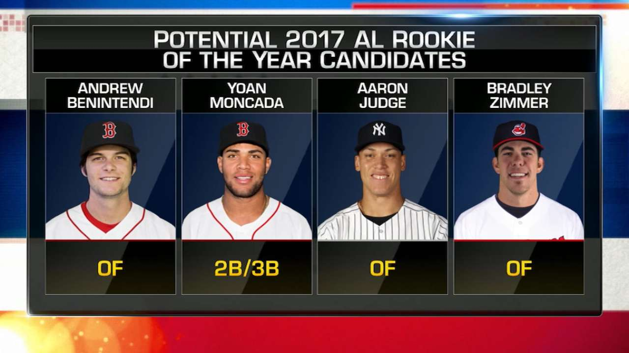 Early candidates for 2017 Rookie of the Year Awards