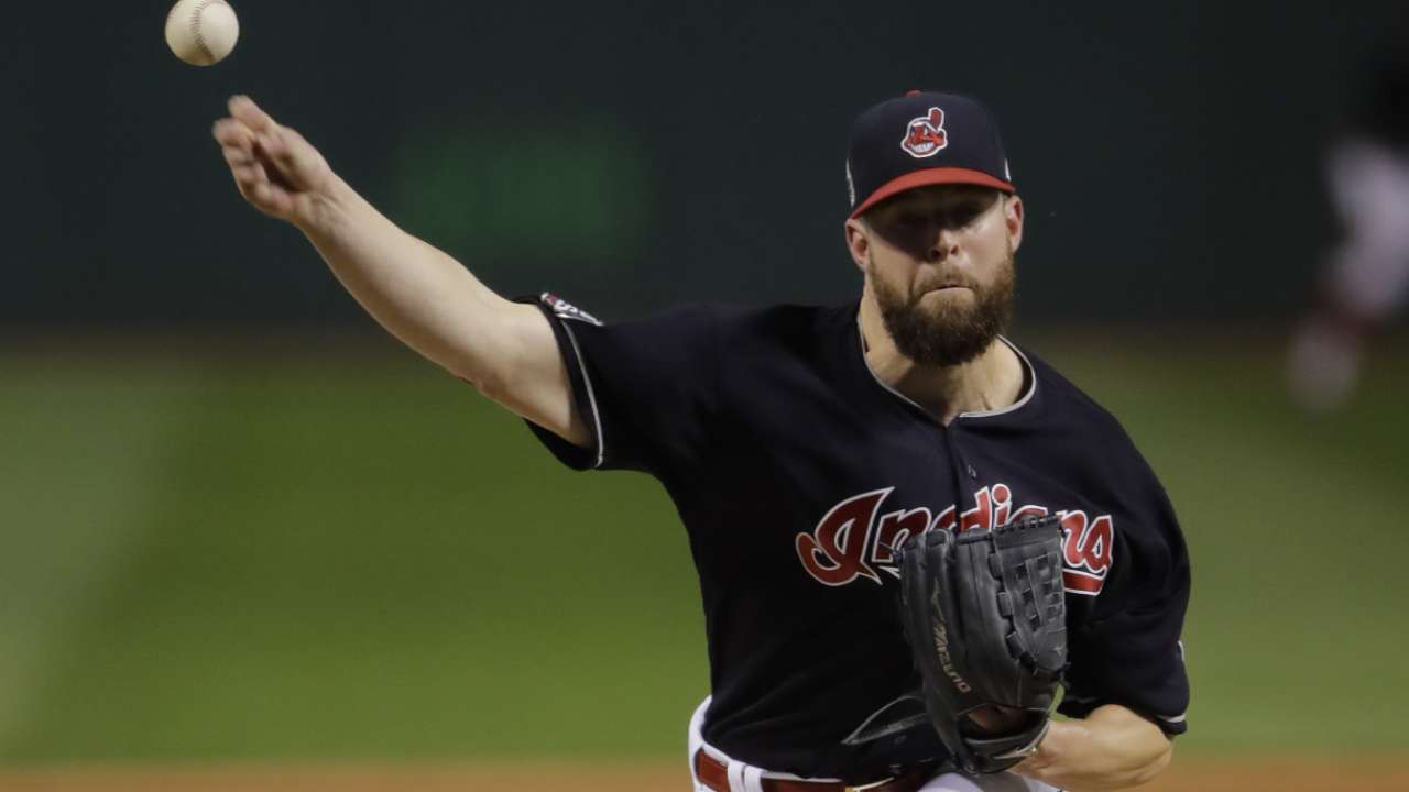 Kluber finishes 3rd in AL Cy Young Award race