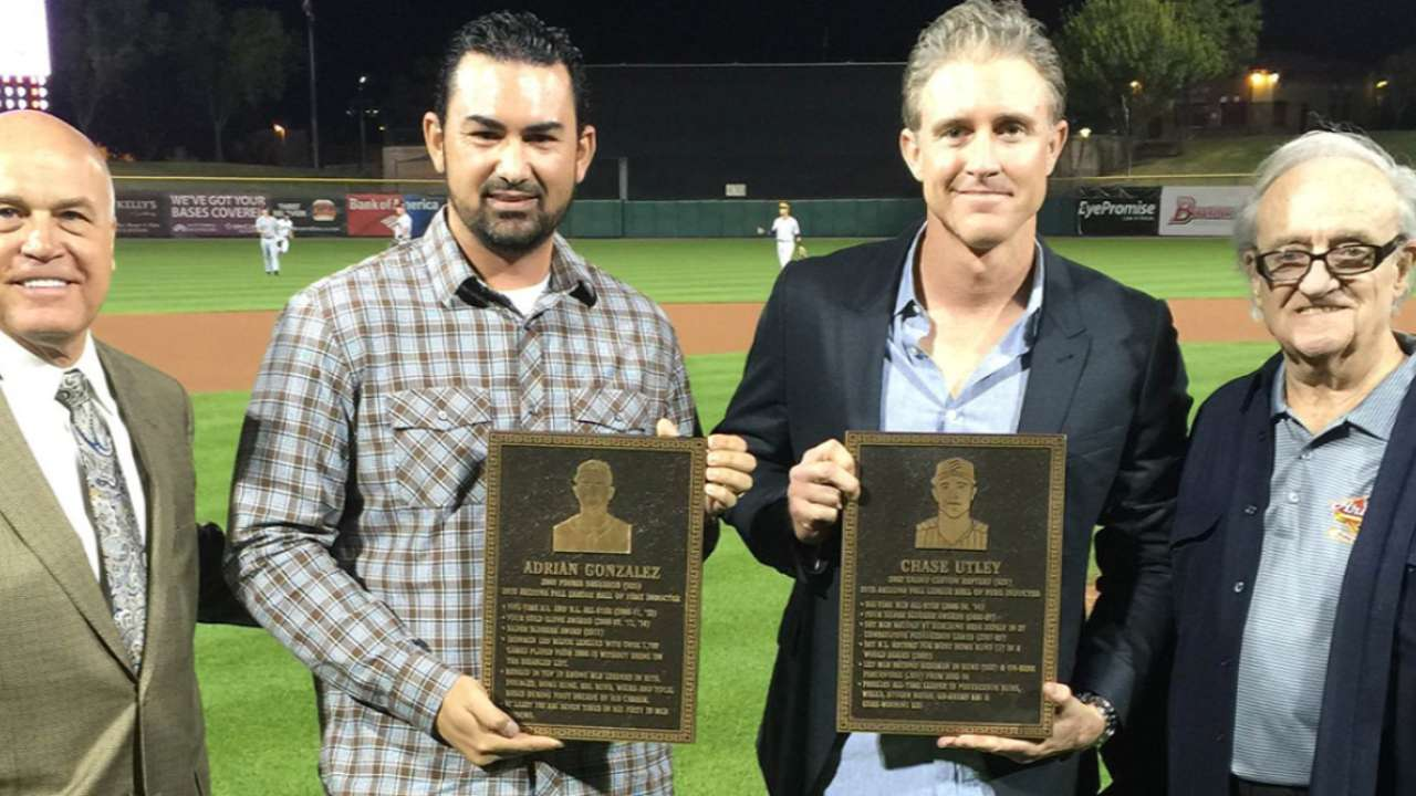 Gonzalez, Utley inducted into Fall League Hall of Fame