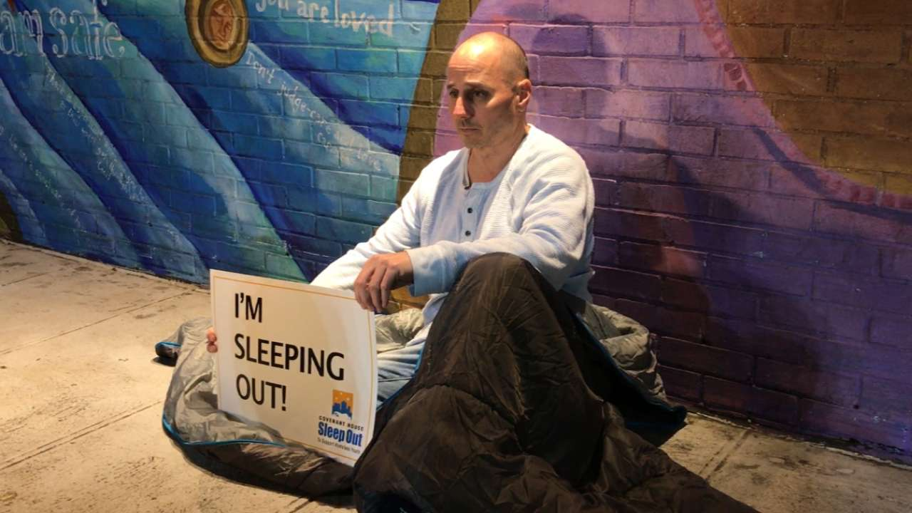 Between trades, Cashman sleeps out on streets