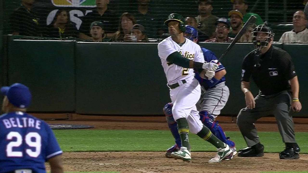 Cold crush Khris: Walk-off slam carries A's