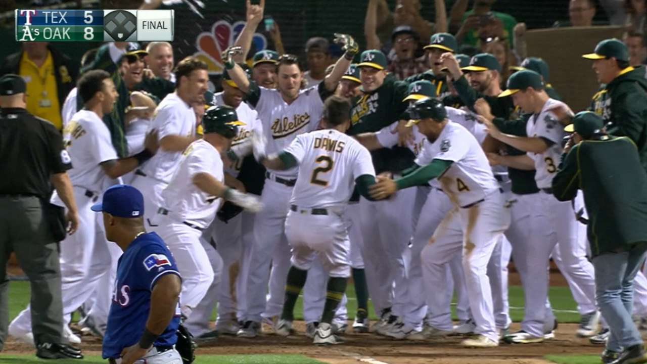 Davis crushes three home runs