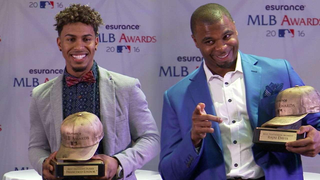 Davis, Lindor on Esurance Awards