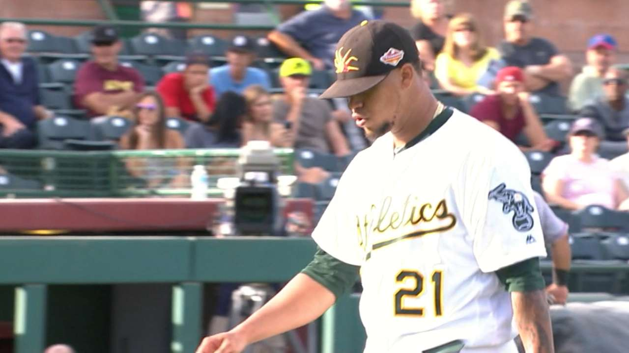 Montas' five strikeouts