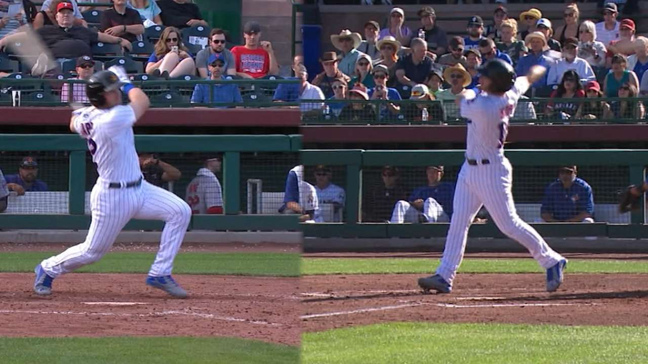 Happ homers from both sides