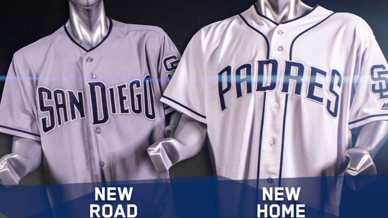 Padres reveal lineup of 2017 uniforms