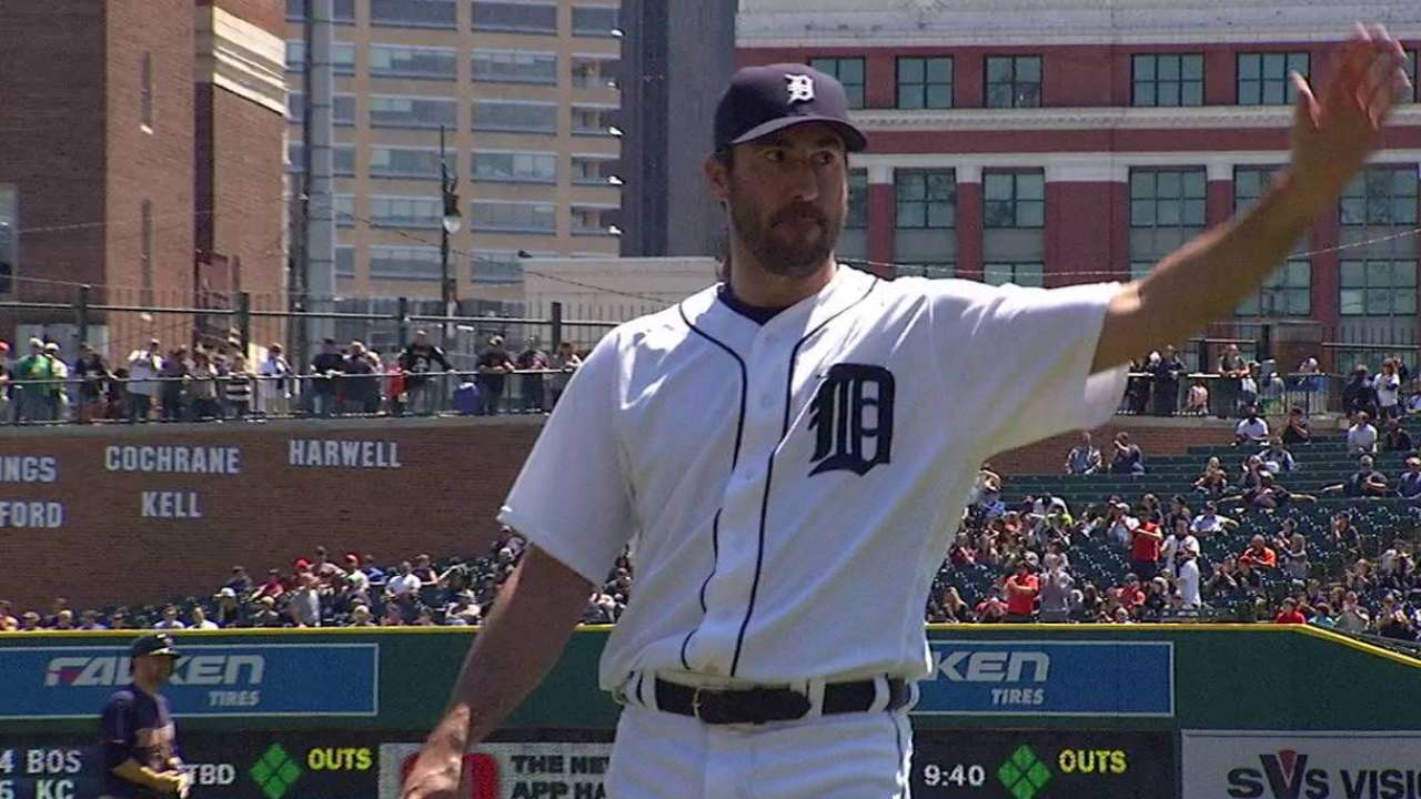 Verlander joins Lolich as only Tigers with 2,000 K's