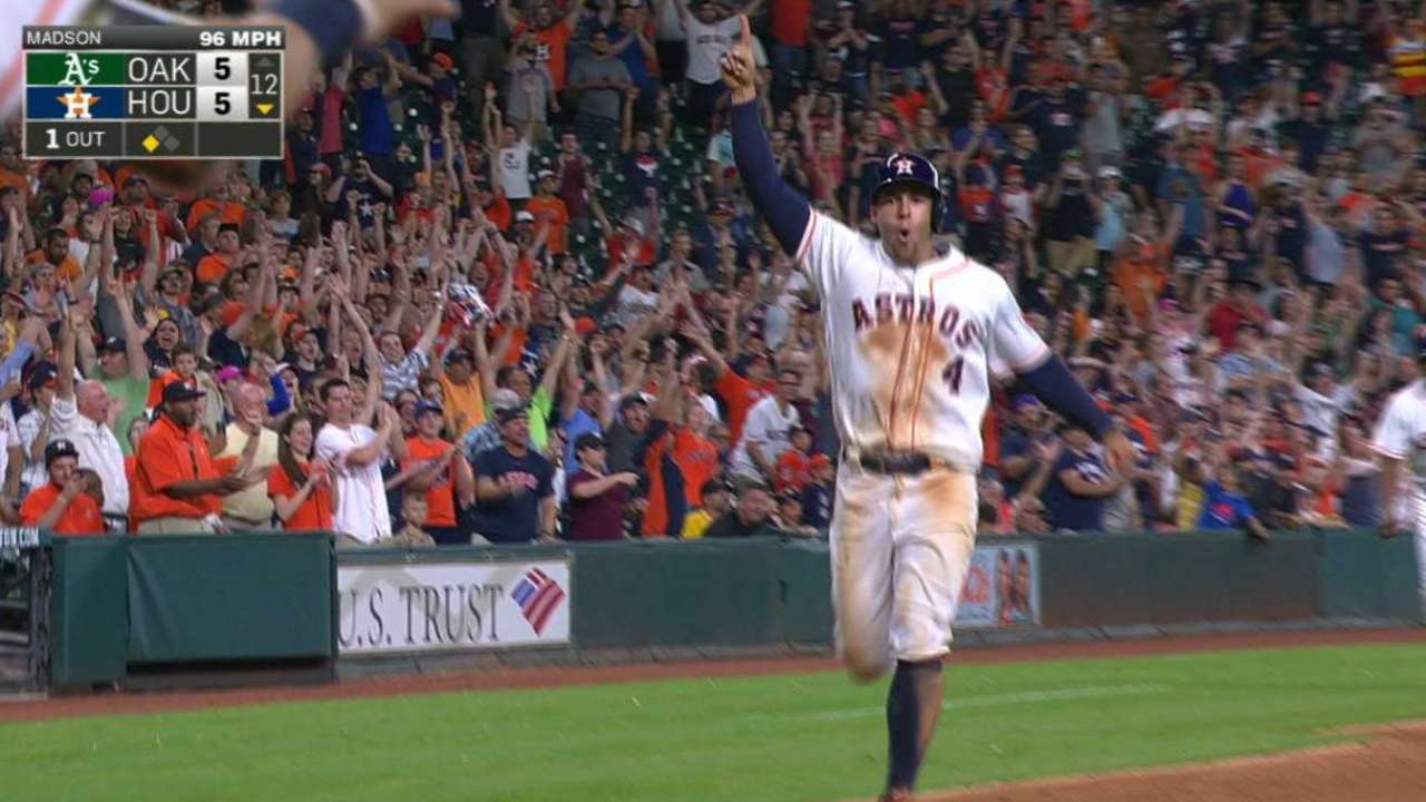 Correa's walk-off hit in 12th turns away A's