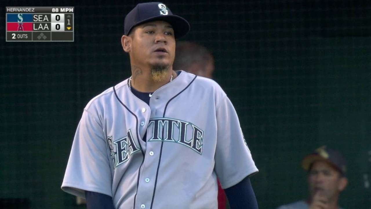 King of the K: Felix rules Seattle in strikeouts