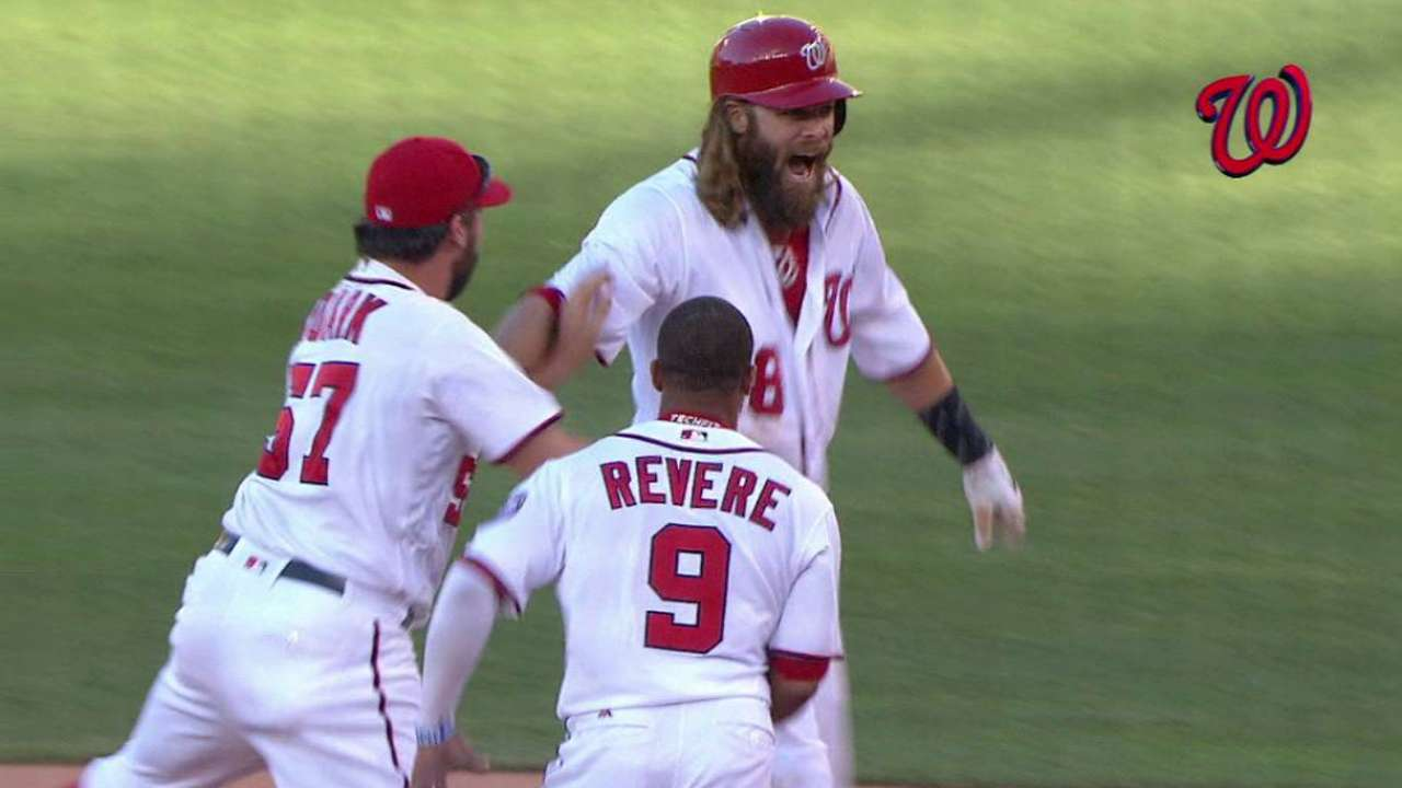 Nats sweep Phils on Werth's walk-off hit