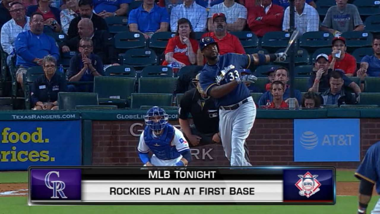 Who will play first for Rockies?