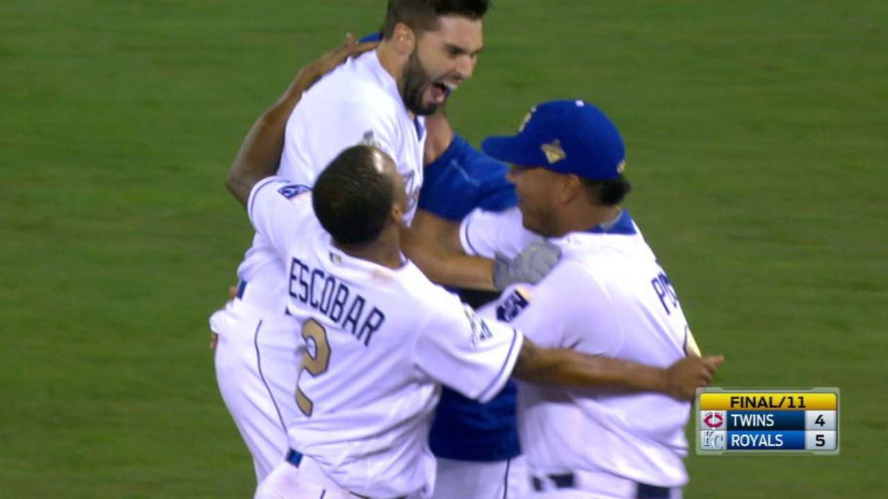 Hosmer sends Royals home with win in 11th