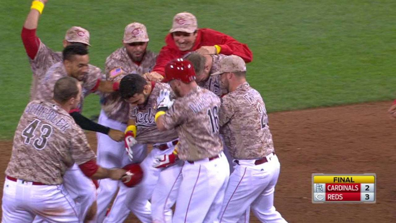 Third time's a charm for Reds in walk-off