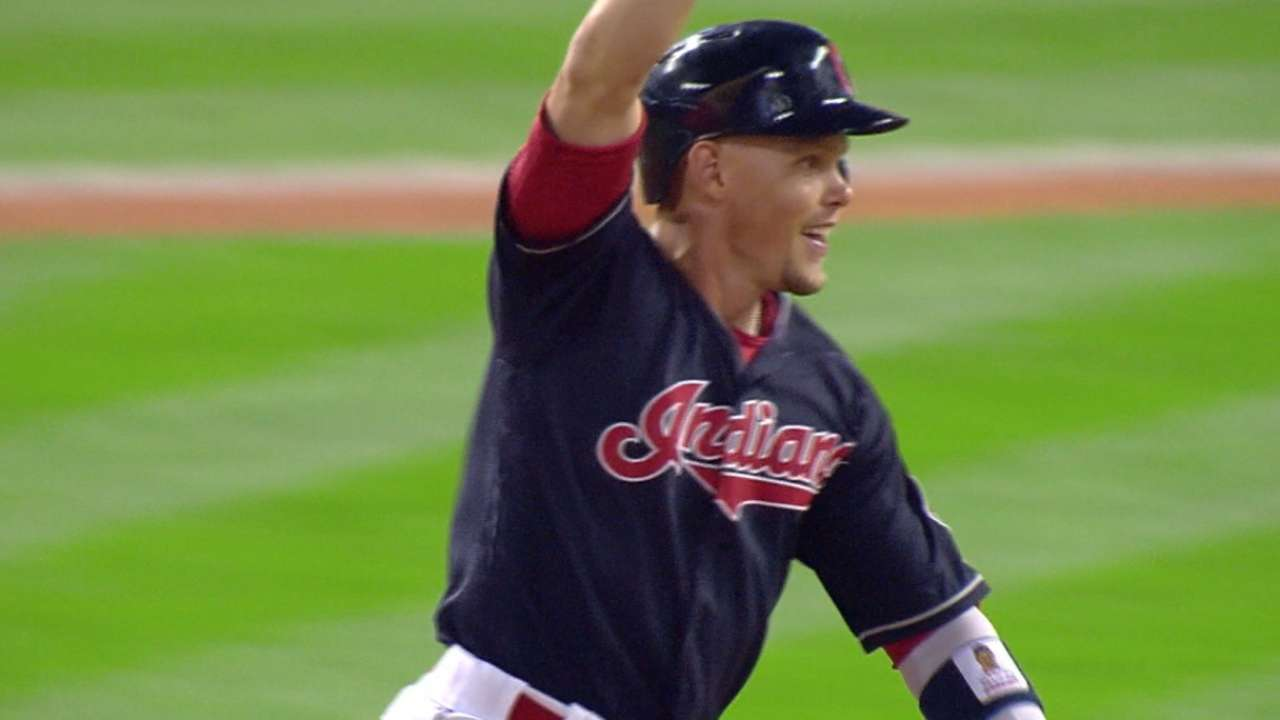 Indians walk off, slice magic number to 6