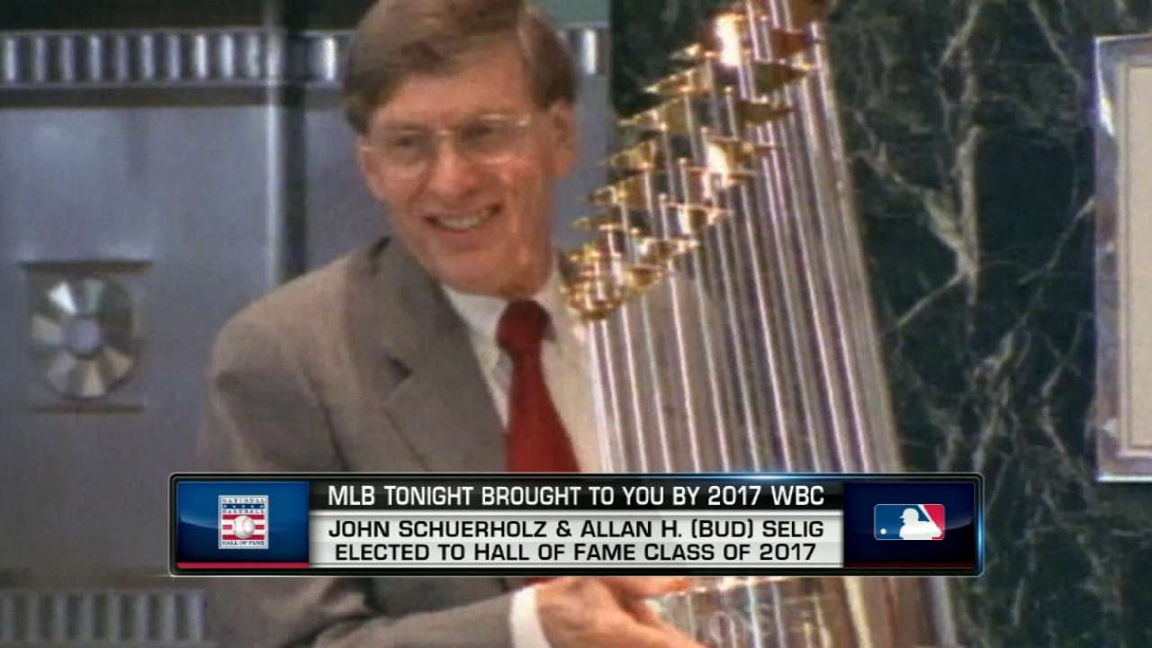 Selig elected to Hall of Fame