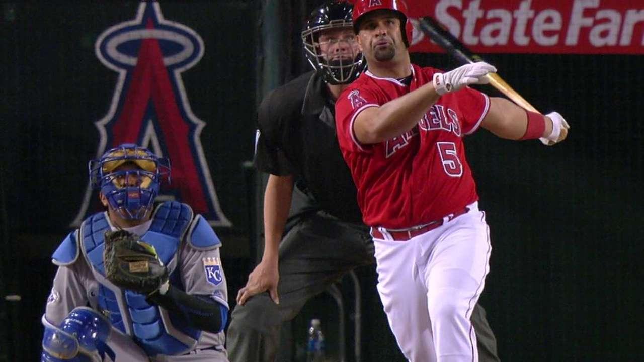 Historic homers: Pujols, Angels sink Royals