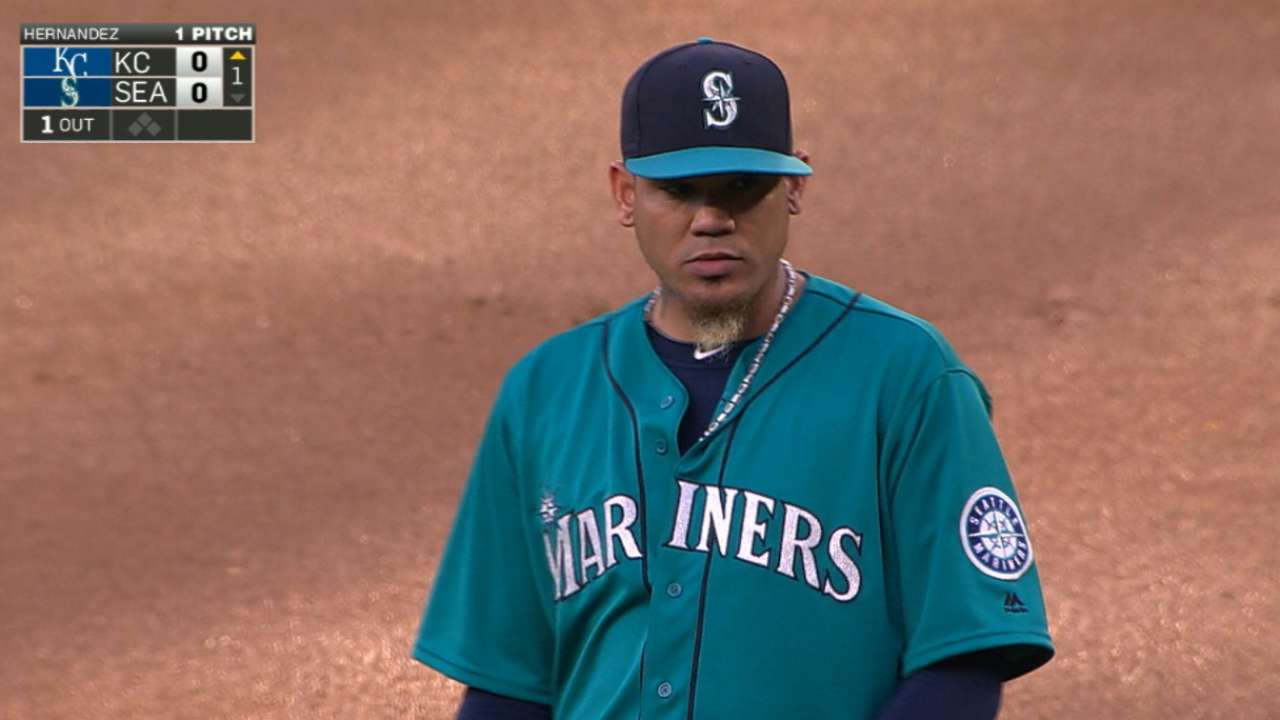 Felix hits mark by keeping Royals in check