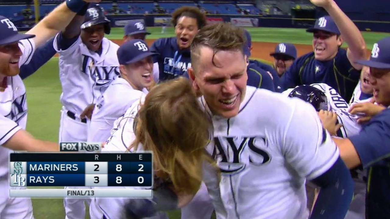 Lucky 13: Walk-off walk lifts Rays in extras