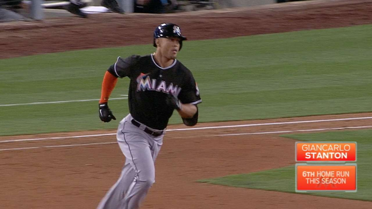 Stanton beats Kershaw for 3rd HR in 3 games