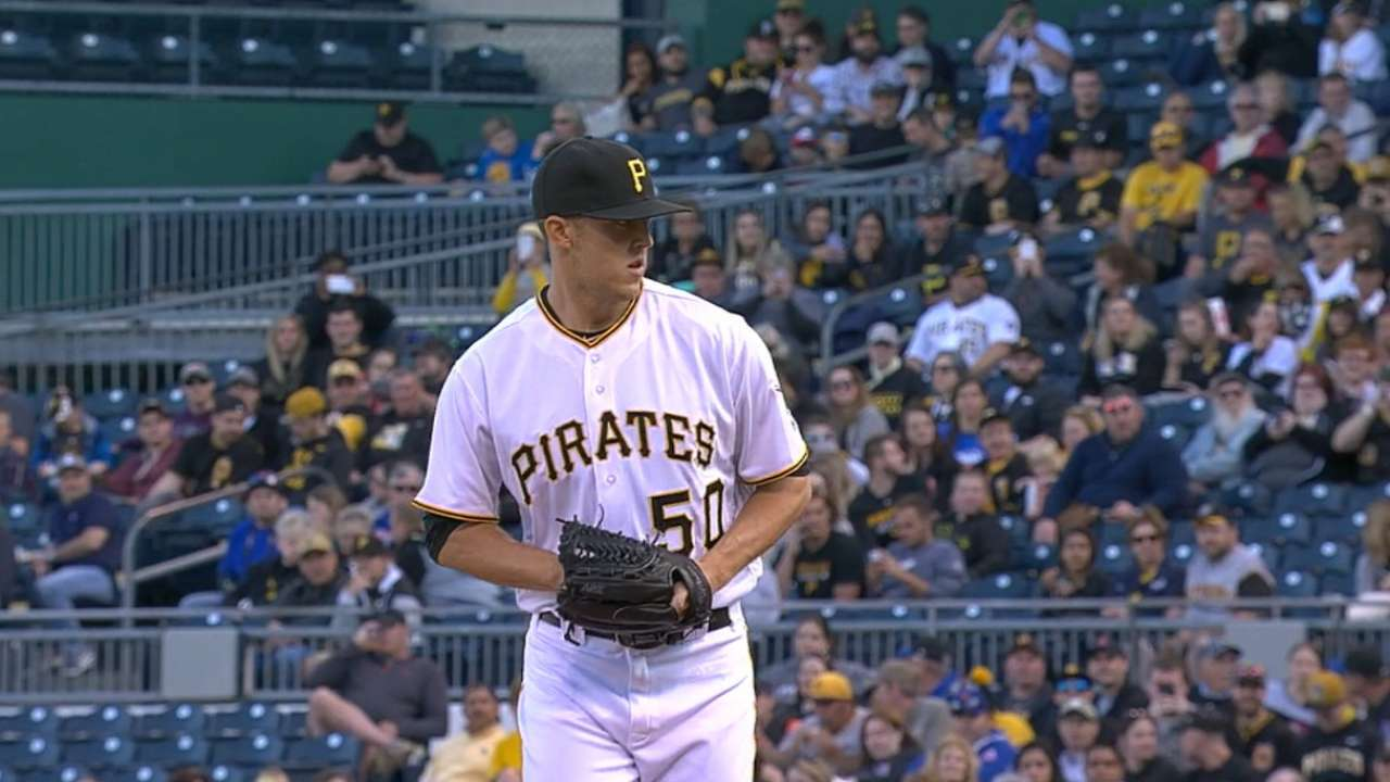 Pirates option Taillon after quality debut
