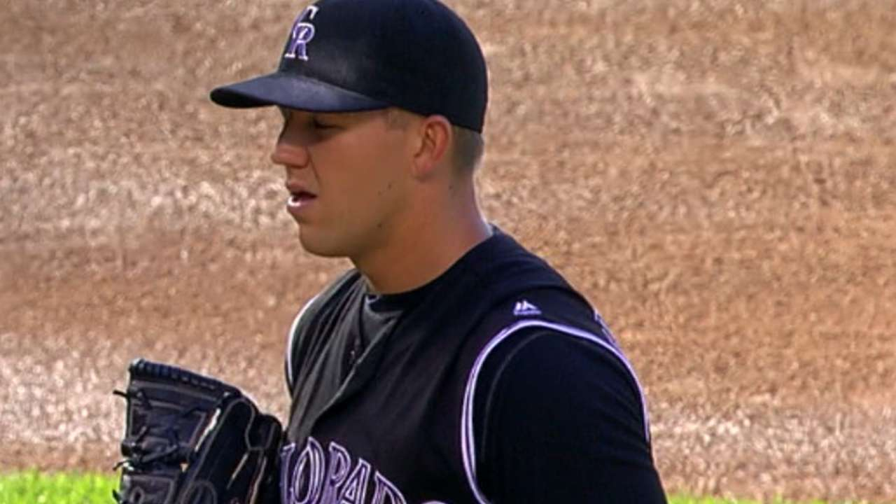 Rockies' rookie dings Phillies for first win