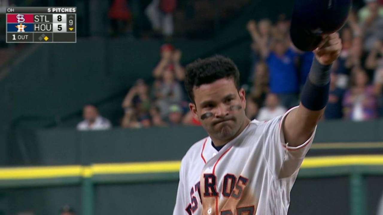 Altuve pegó su hit 1,000, pero Astros cayeron vs. Cardenales