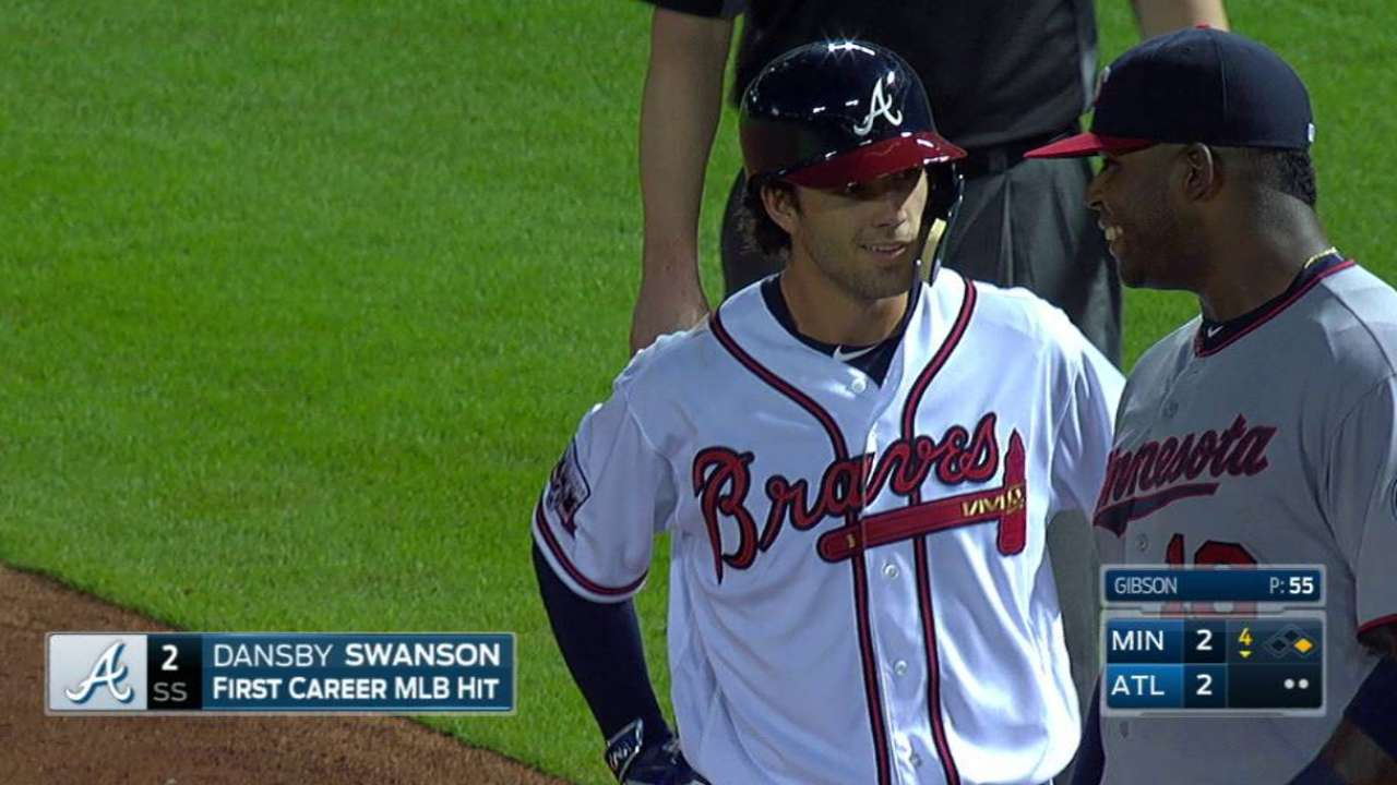 Swanson's first career hit