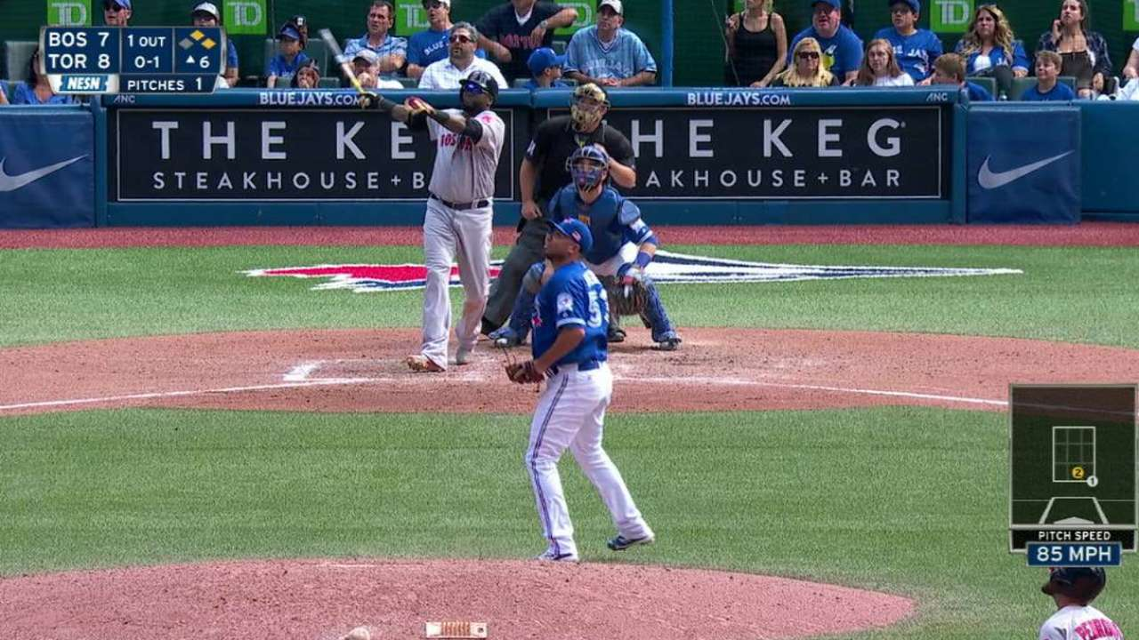 Papi passes Foxx, sinks Jays with 535th HR