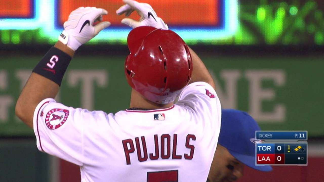 Pujols joins rare company with 600th double
