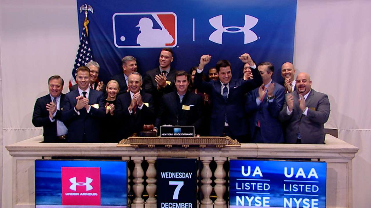 MLB, Under Armour ring opening bell at NYSE