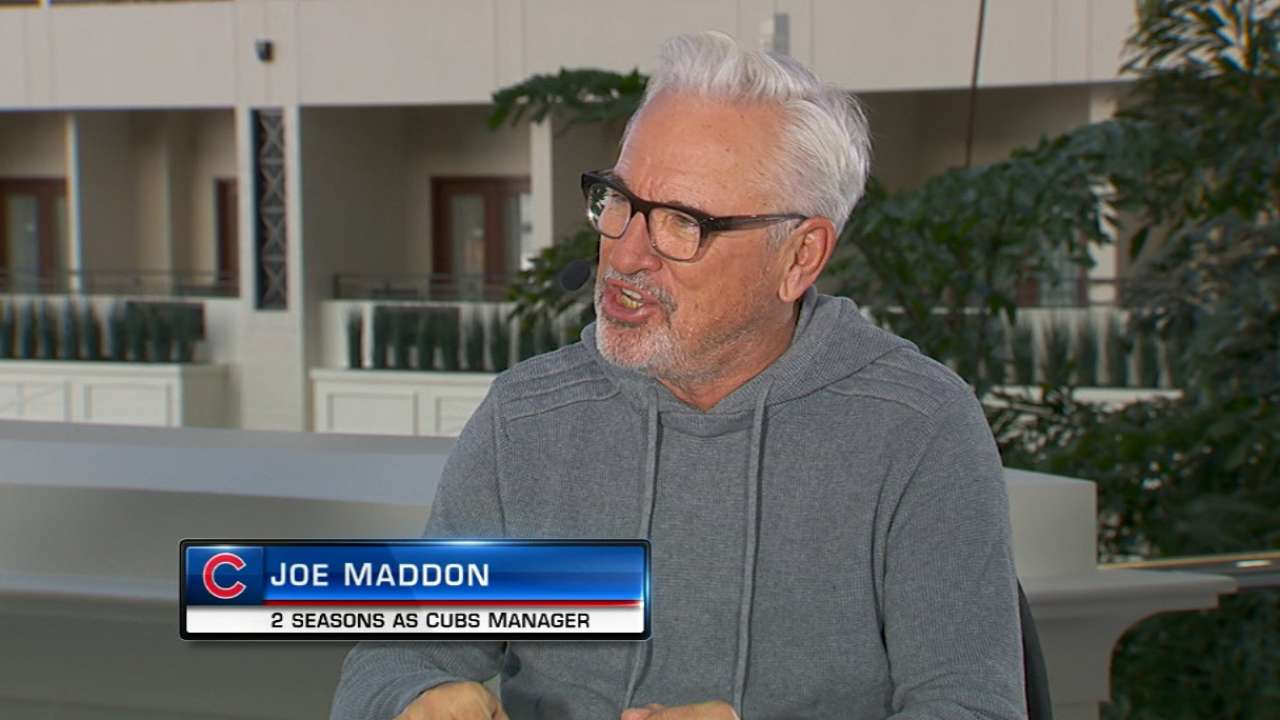 Maddon celebrates Davis deal