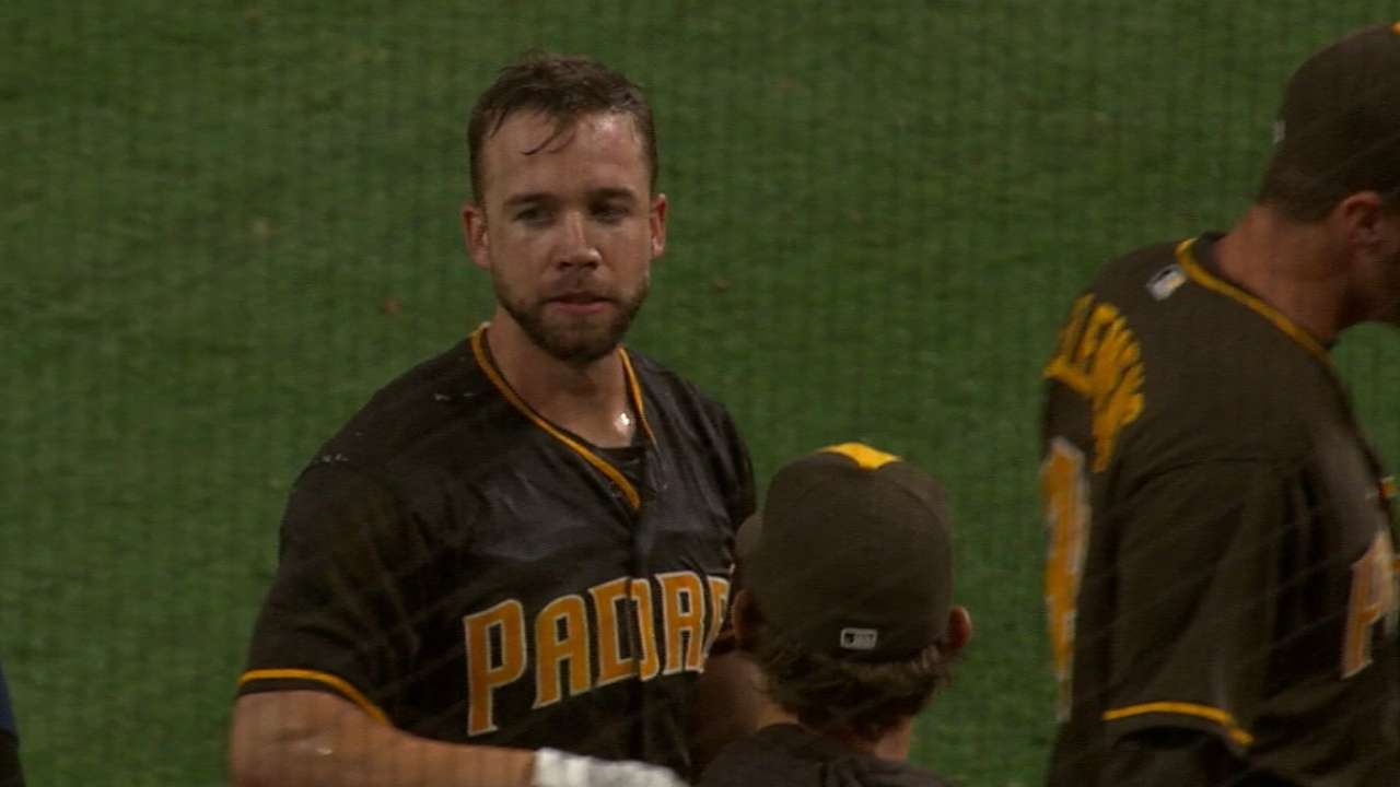 Schimpf combines power and patience at plate